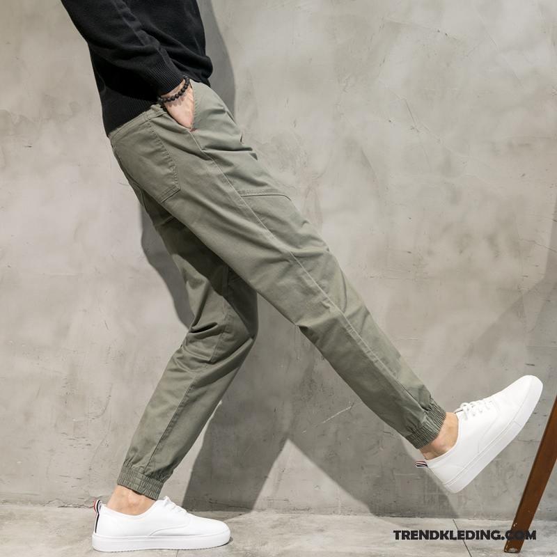 Joggingbroek Slim Fit.Cargobroek Heren Mini Joggingbroek Slim Fit Dun Losse Elastiek Kaki