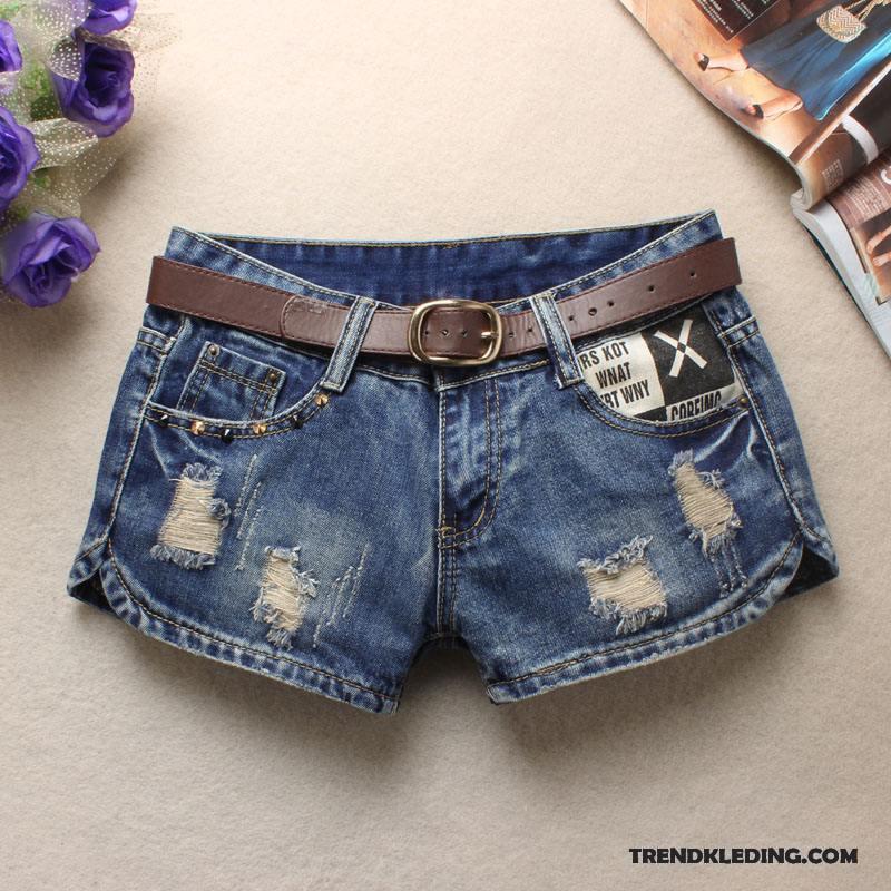 Korte Broek Dames Jeans.Korte Broek Dames Spijkerbroek Jeans Franjes Gescheurd 2018 Dunne