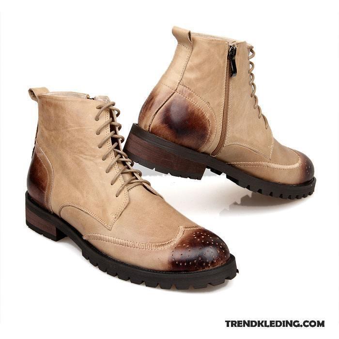Beroemd Laarzen Heren Brits Laars Voorjaar Leren Schoenen Korte Laarzen &DG55
