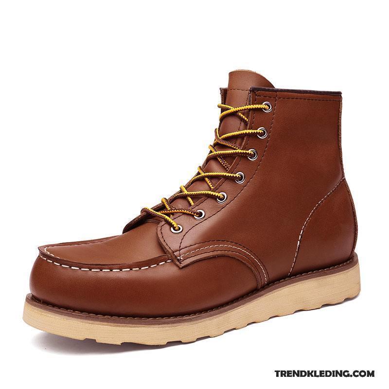 Werkschoenen Laarzen.Laarzen Heren Trend Hoge Werkschoenen Laars Martin Laarzen Mannen