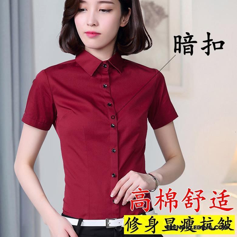 Overhemd Zwart Slim Fit.Overhemd Korte Mouw Dames Cargo Slim Fit Zomer Geklede Blouse