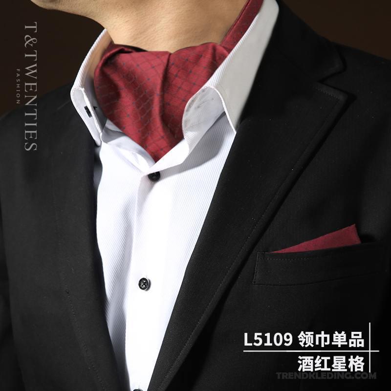 Heren Brits Pak Sjaals Blauw Kopen Sjaal Overhemd Vintage Trend NnO80wPXk
