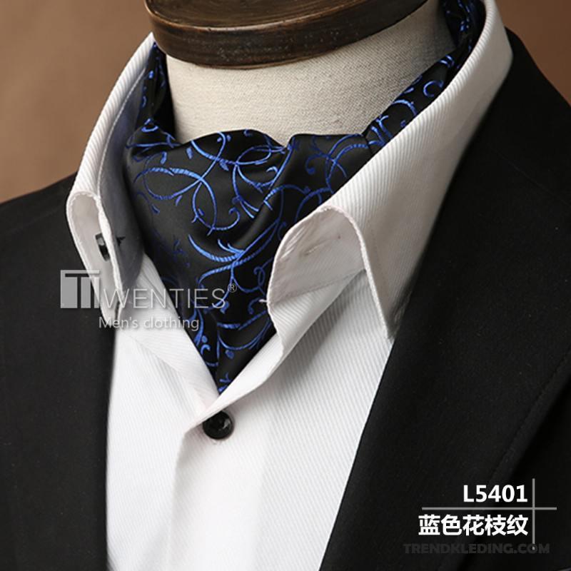 Overhemd Voor Pak.Sjaal Heren Brits Pak Overhemd Trend Sjaals Vintage Blauw Kopen