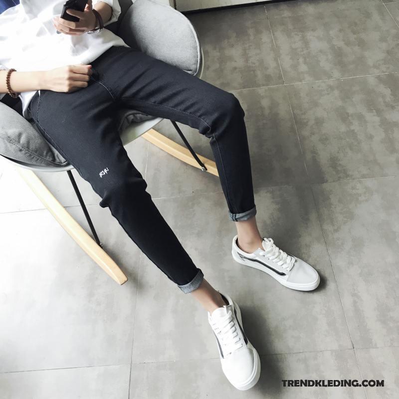 Spijkerbroek Heren Spijkerbroek Jeans Mini Jeugd Mannelijk Trend Nieuw Zwart Grijs