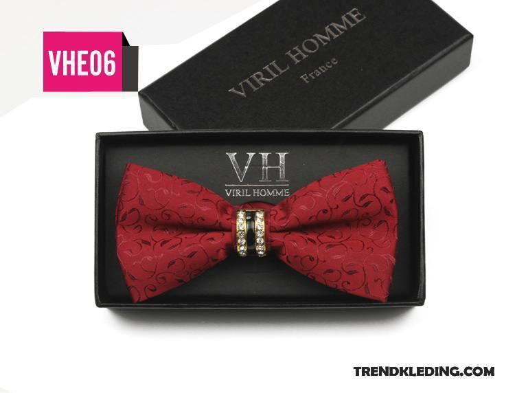Rood Zwart Overhemd.Vlinderdas Heren Bruidegom High End Beste Mannen Huwelijk Brits