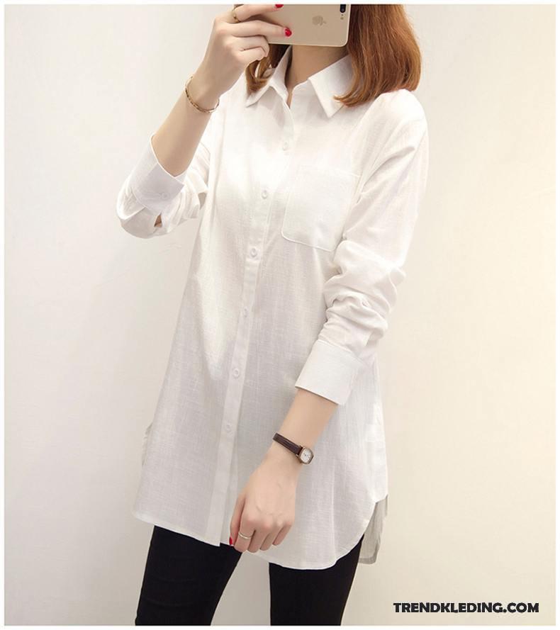 lange witte overhemd dames