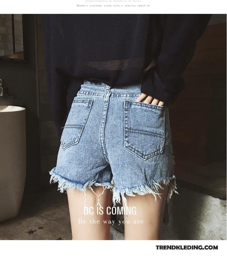 Korte Broek Dames Jeans.Korte Broek Dames Nieuw 2018 Hoge Taille Spijkerbroek Jeans Super