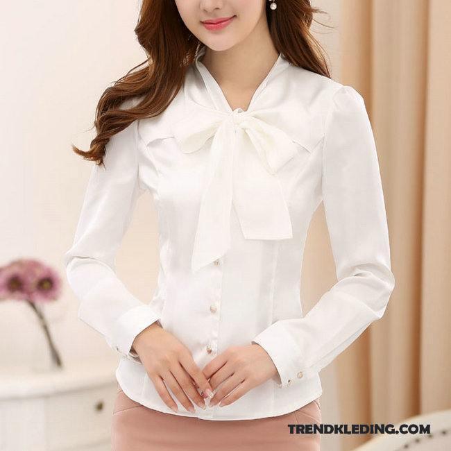 Blouse Of Overhemd.Blouse Dames Blouse Overhemd Werkkleding Satijn Grote Maten Ijszijde