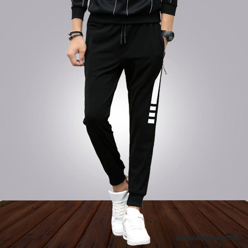 Slim Fit Joggingbroek Heren.Broek Heren Mannelijk Casual Broek Trend Mini Joggingbroek Slim Fit