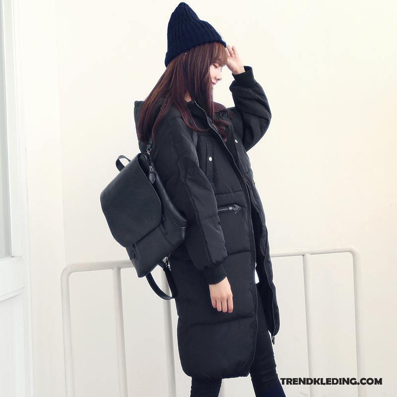 Dames winter mantel zwart