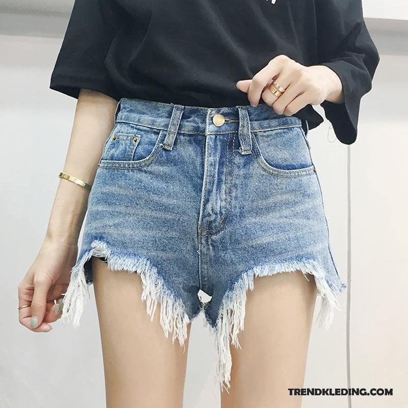 korte broek met hoge taille