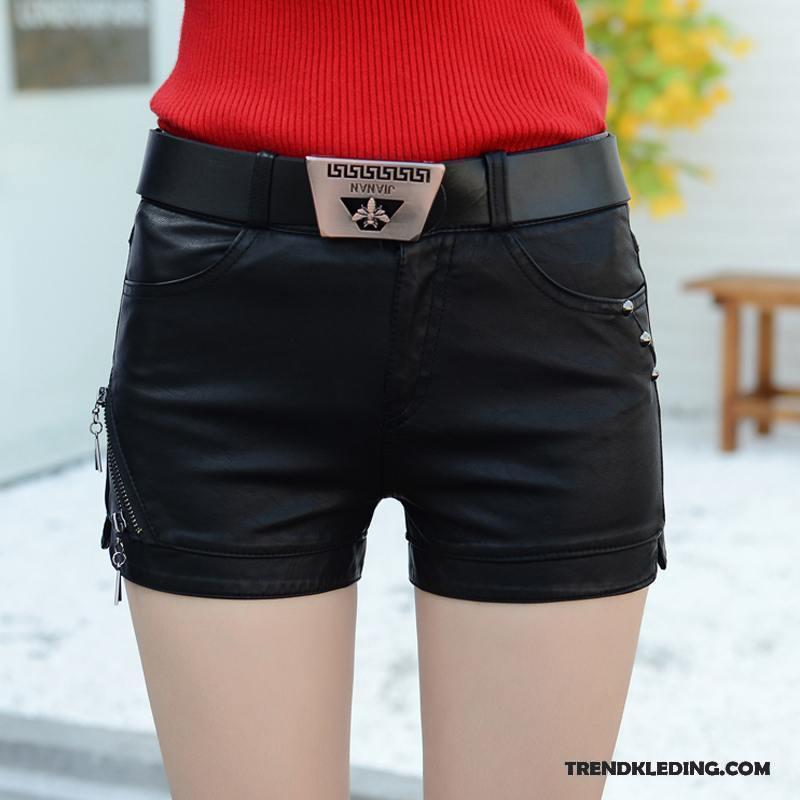 Dames Korte Broek Zwart.Korte Broek Dames Sexy Super Leer Voorjaar Nieuw Hete Broek Zwart