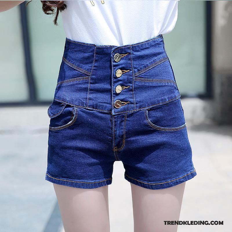 Korte Broek Dames Goedkoop.Korte Broek Dames Trend Hoge Taille Student Vet Slim Fit Elastiek
