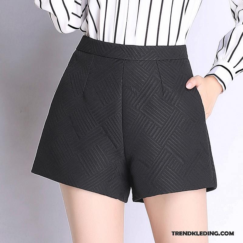 Korte Broek Zwart Dames.Korte Broek Dames Zomer Casual Losse Herfst Nieuw Bovenkleding Zwart