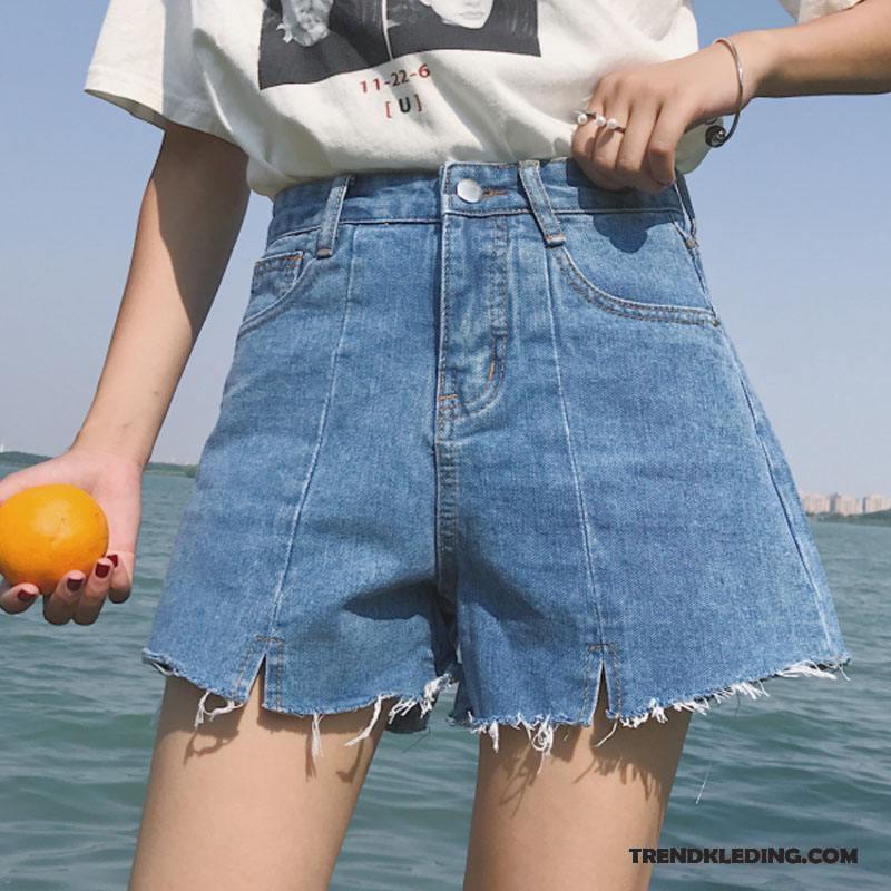 Korte Jeans Broek Dames.Korte Broek Dames Zomer Losse Trend Hoge Taille Spijkerbroek Jeans
