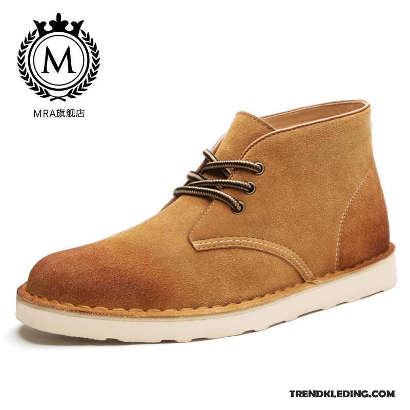 Werkschoenen Heren.Laarzen Heren Korte Laarzen Schoenen Brits Mannen Winter