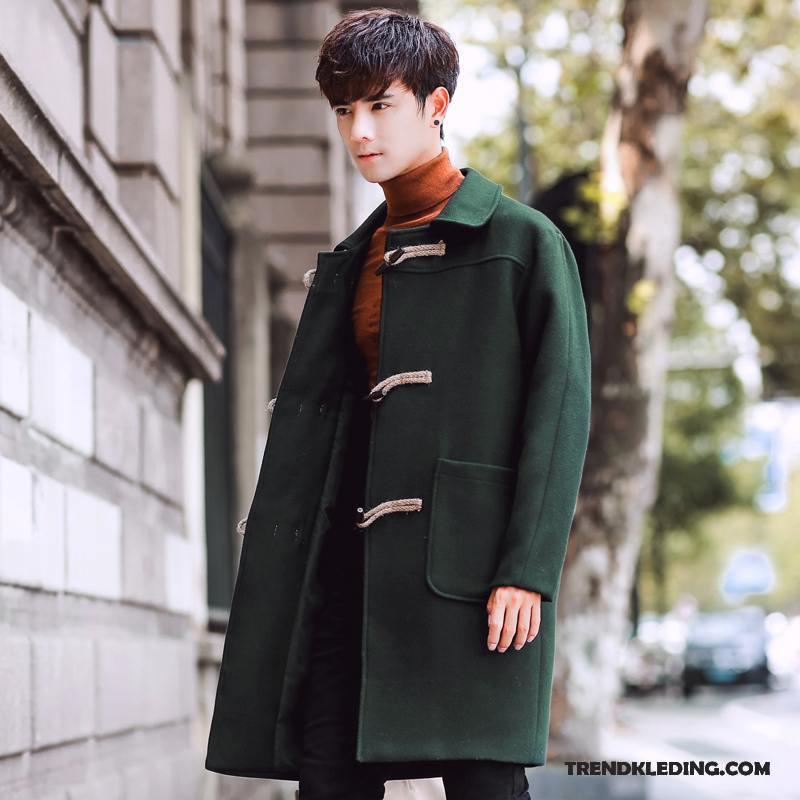 Mantel Heren Mannelijk Koe Winter Jas Wol Trend 2018 Groen