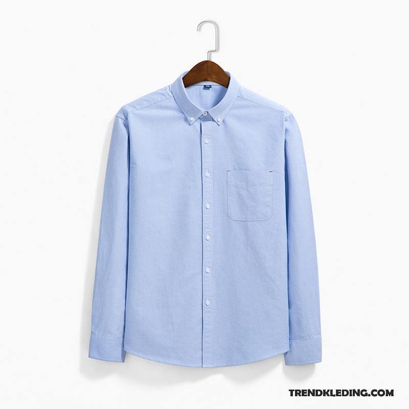Katoenen Overhemd Heren.Overhemd Heren Kunst Casual Mode Koe Jeugd Katoen Donkerblauw Kopen