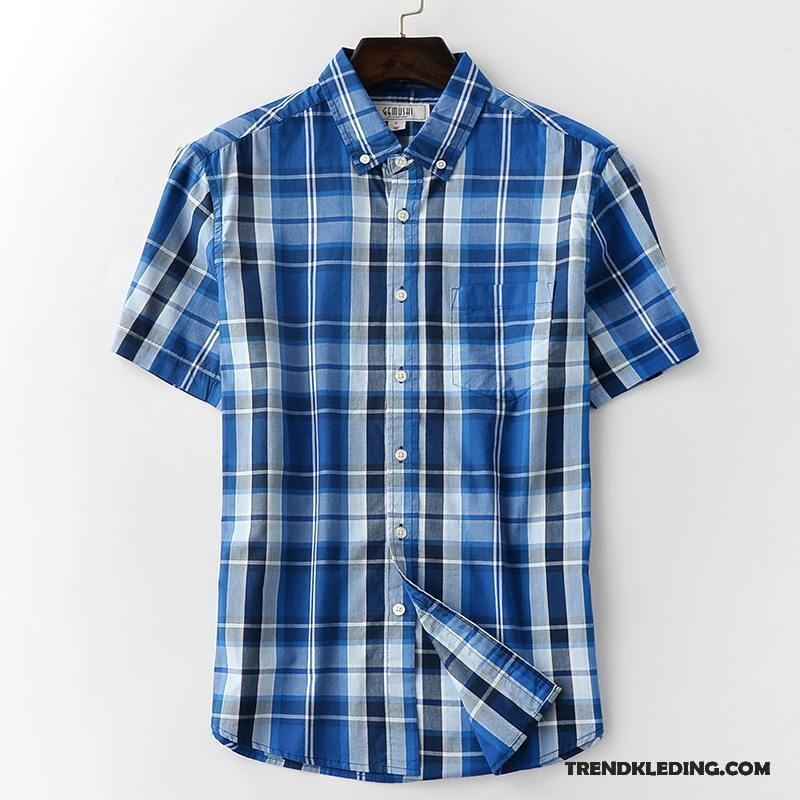 Overhemd Korte Mouw Heren.Overhemd Korte Mouw Heren Katoen Overhemd Kort Mouw Casual