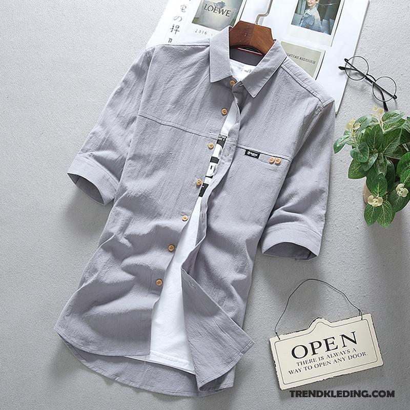 Heren Overhemd Casual.Overhemd Korte Mouw Heren Overhemd Kort Mouw Dunne Casual Slim Fit