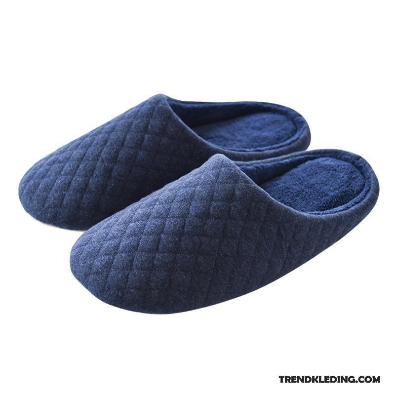 Warm Winter Pantoffels Zool Mannen Binnen Heren Lovers Marineblauw Dikke 8mvN0wn