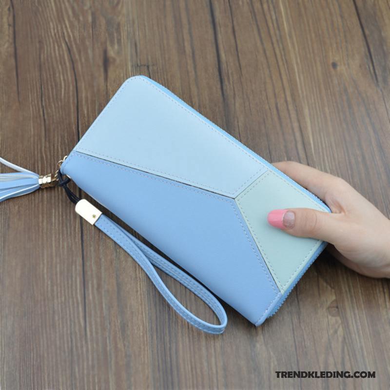 4f99d2e8133 Portemonnee Dames Eenvoudig Hand Tas Nieuw Meisje Lange Blauw Kopen