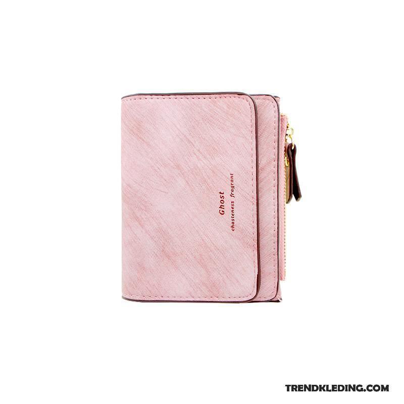 7827e728175 Portemonnee Dames Student Nieuw Mini Trend 2018 Peren Bloemen Roze Kopen