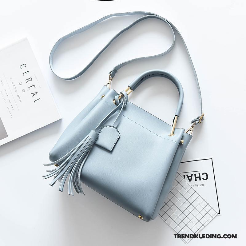 6567160a3be Schoudertas Dames Mode Nieuw Elegante Herfst Handtas Trend Lichtblauw  Goedkoop