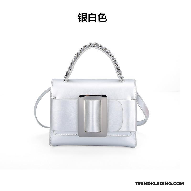 f68bb10ba4c Schoudertas Dames Trend Alle Wedstrijden Mini Messenger Tas Handtas Mode  Zilver Wit Korting