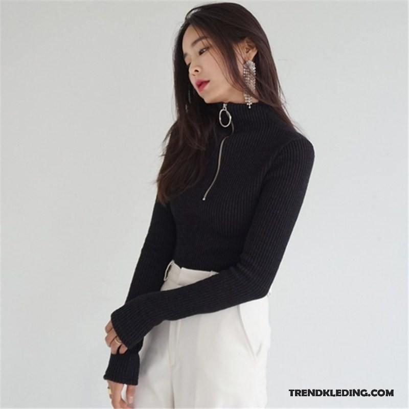 Dames Trui Met Kraag.Trui Dames Winter Hoge Kraag Onderhemd Slim Fit Breien Pullover