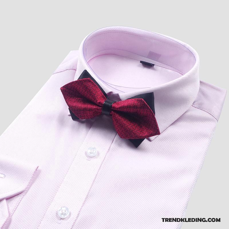 Overhemd Rood Zwart.Vlinderdas Heren Overhemd Beste Mannen Bruidegom Bloem Kraag Casual