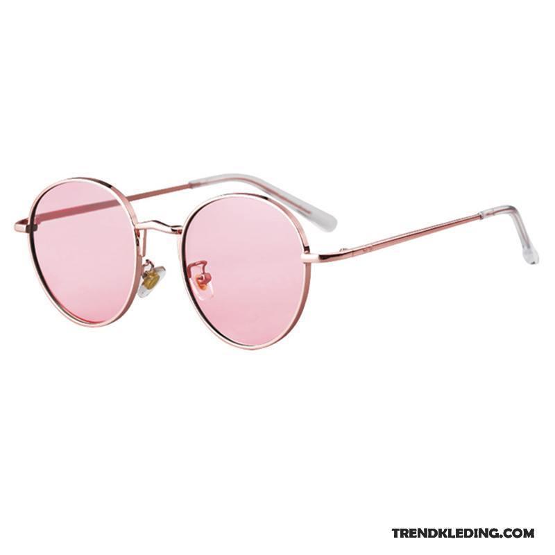 24c9eff307e218 Zonnebril Dames 2018 Nieuw Vintage Trend Straat Het Schieten Mesh Roze Rood  Sale