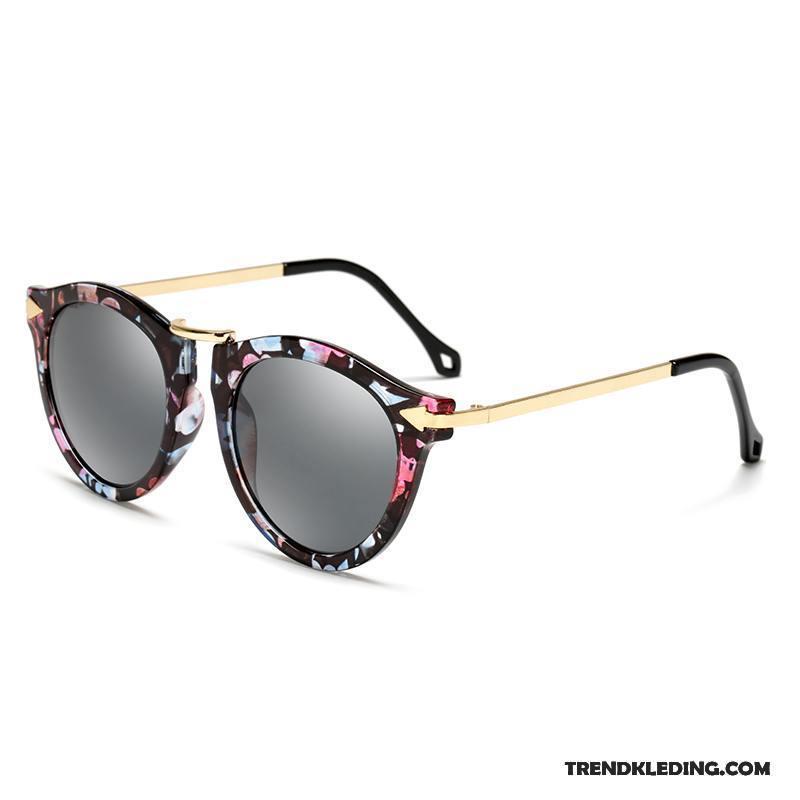 cdf4ba7316c7e3 Zonnebril Dames Vintage Nieuw Rond Gezicht Ster Vierkante Trend Zwart Kopen